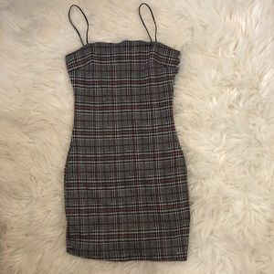 Plaid printed dress